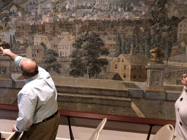 Historical society preserves 210-year-old theater curtain