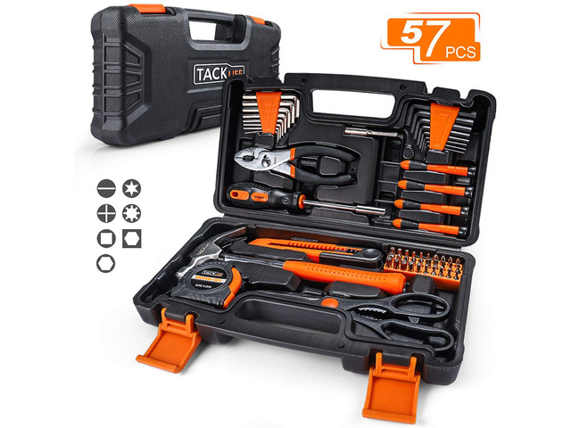 Replace your entire cluttered toolbox with this 57-piece tool kit for $15