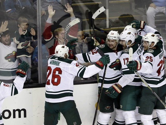 Nino Niederreiter's overtime goal rescues Wild after bad third period