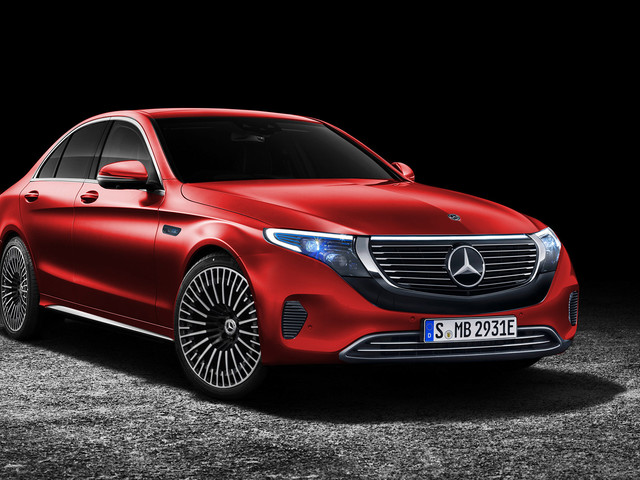 This Mercedes C-Class with an EQC Face is a Bit Awkward