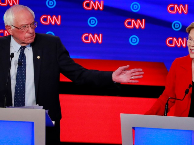 A new 2020 Democratic primary poll shows Warren surging alongside fellow frontrunners Biden and Sanders