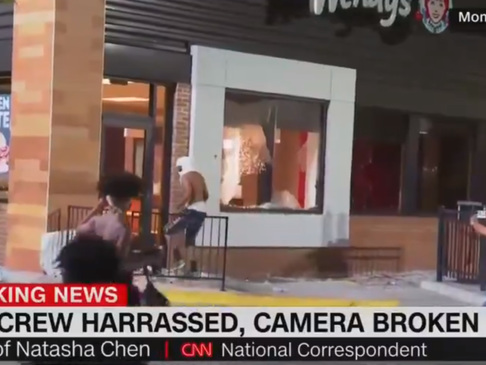 "Watch: CNN Decries ""Aggressive"" Protesters After Camera Crew Attacked"