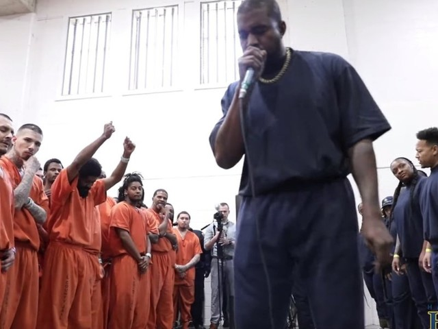 Officers were brought to tears and inmates prayed on their knees during surprise concert at Texas jail by Kanye West