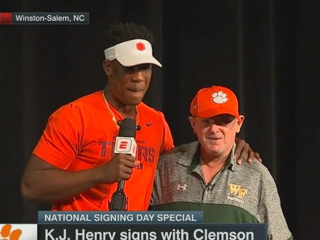 5-star DE KJ Henry had the Early Signing Period's best announcement ceremony, by far
