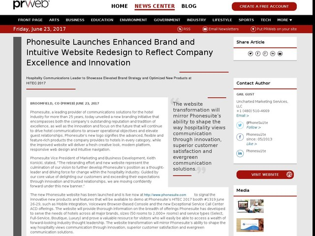 Phonesuite Launches Enhanced Brand and Intuitive Website Redesign to...