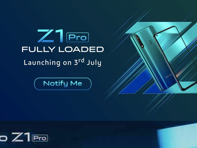 Vivo Z1 Pro Set to Launch in India on July 3, Company Confirms