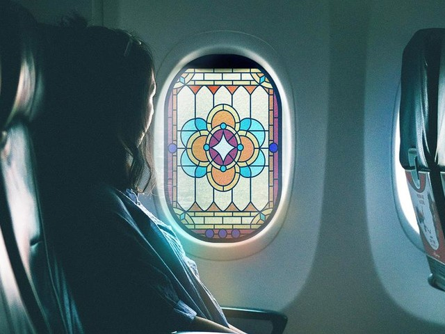 Stained glass 'prayer windows' for planes