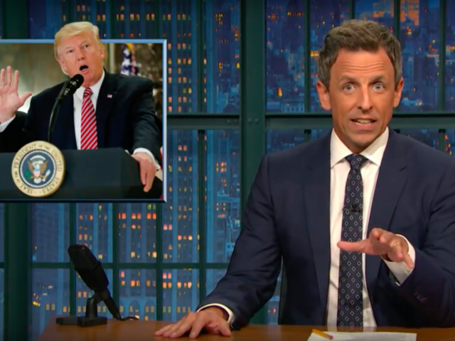 """After Trump's Outrageous Press Conference, Seth Meyers Begs Congress: """"Isn't This Enough?"""""""