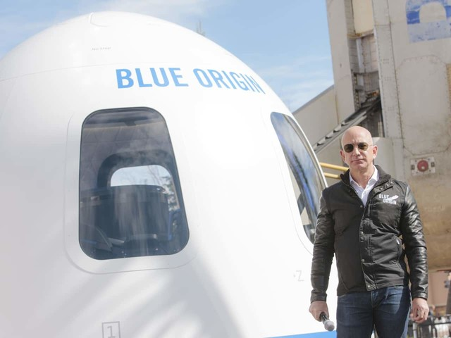 A seat to fly with Jeff Bezos to space sells at auction for $28 million