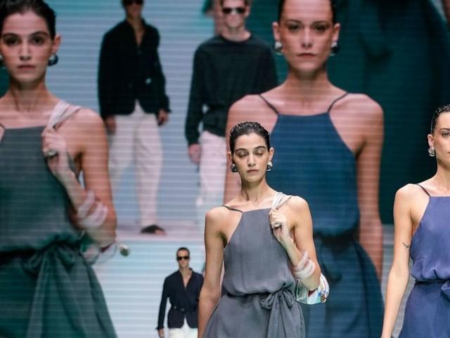 Emporio Armani celebrates 40 years during Milan Fashion Week