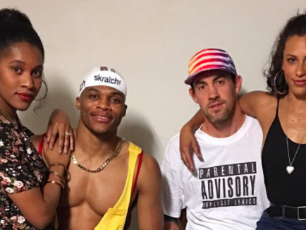 Russell Westbrook and Nick Collison won Halloween 2 weeks early with 'White Men Can't Jump' costumes