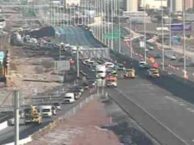I-15 at Nevada-California stateline closed due to snow-related crashes