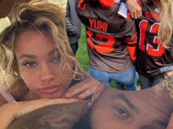ALREADY IN GOOD WITH MOM: Odell Beckham Jr.'s Mom Hits The Sidelines With His Girlfriend Lauren Wood