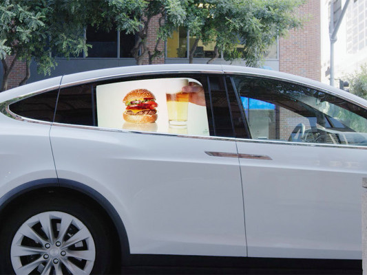 Grabb-It wants to turn your car's window into a trippy video billboard
