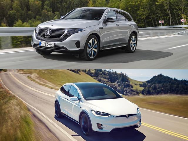 Mercedes EQC vs Tesla Model X