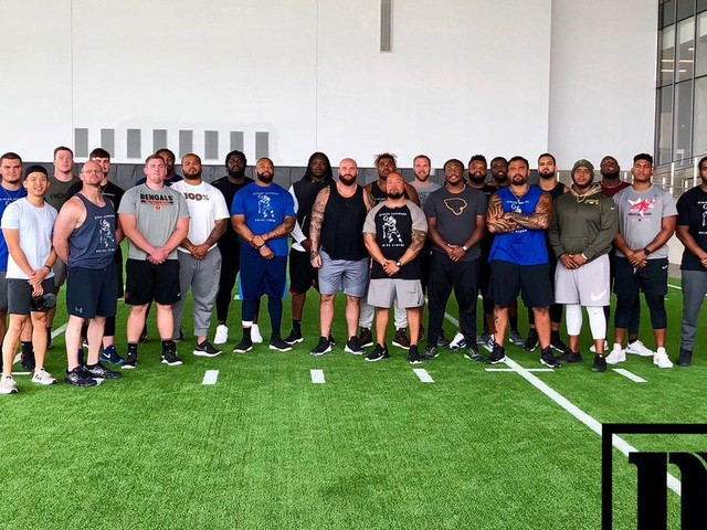 What happens when 26 of the NFL's best offensive linemen get together?