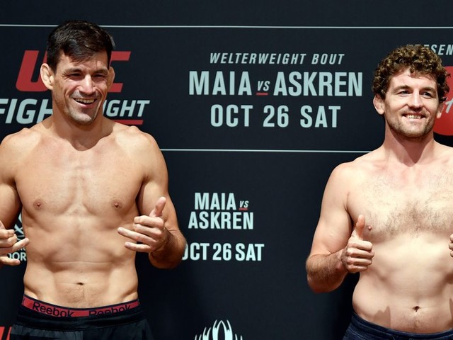 UFC Singapore weigh in results: Maia 170.5, Askren 171