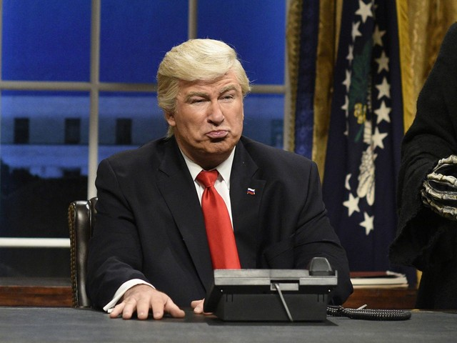 President Trump and Alec Baldwin are sniping at each other on Twitter. Yes, again
