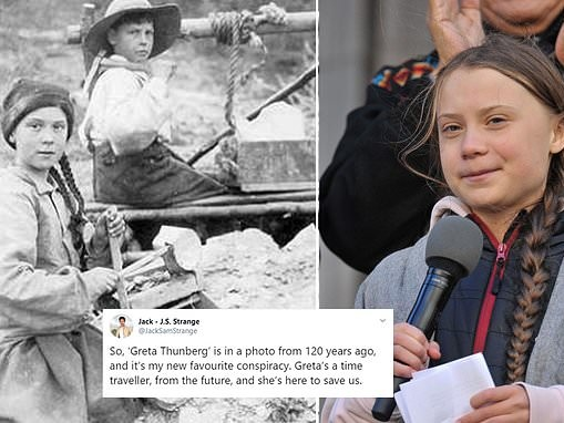 Old photo of girl from 1898 sparks claims Greta Thunberg is a 'time traveller sent to save us'
