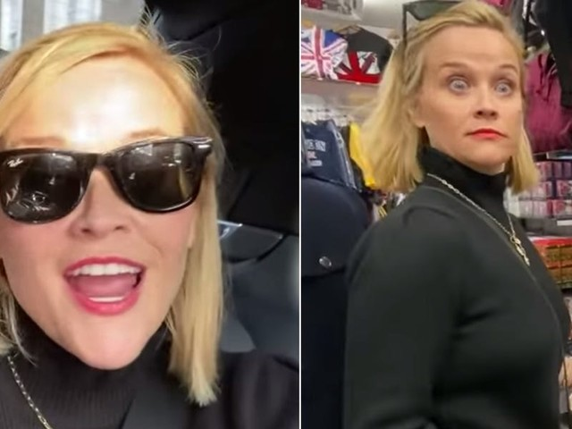 Reese Witherspoon went shopping for Meghan Markle and Kate Middleton souvenirs in London