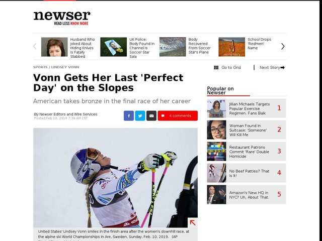 Vonn Gets Her Last 'Perfect Day' on the Slopes