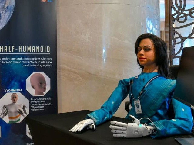India is sending a creepy robot lady to space
