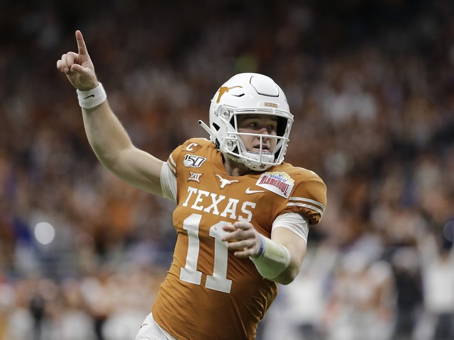 Sam Ehlinger passes for three TDs as Texas whips No. 12 Utah in Alamo Bowl