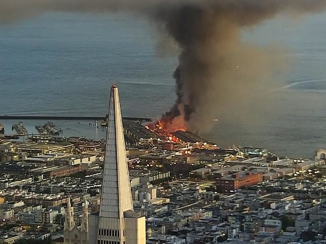 San Francisco fire has destroyed a quarter of Pier 45