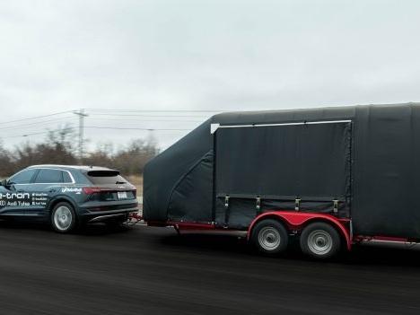 Audi e-Tron Range Effectively Halved by 4,000-pound Trailer