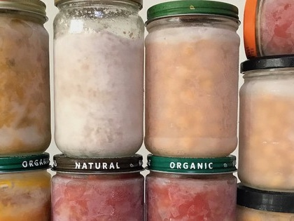 How to freeze food in glass jars