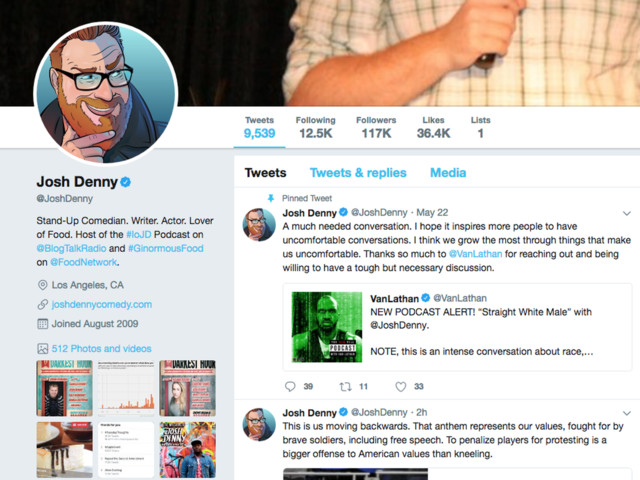 Josh Denny, Food Network host, not sorry for N-word tweets, 'straight white male' comparison