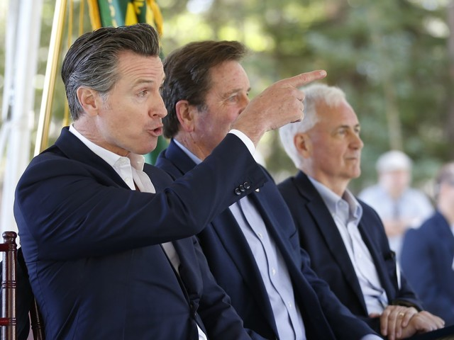 PG&E helped fund the careers of Calif. governor and his wife. Now he accuses the utility of 'corporate greed.'