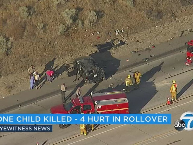 Infant killed, 4 injured in 14 Fwy crash in Agua Dulce