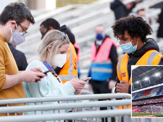 'And so it begins': Mixed reaction as vaccine passport plans 'set to begin with England Euro 2020 games at Wembley this weekend'