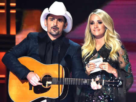 Carrie Underwood and Brad Paisley's Best Hosting Moments at the 2017 CMA Awards