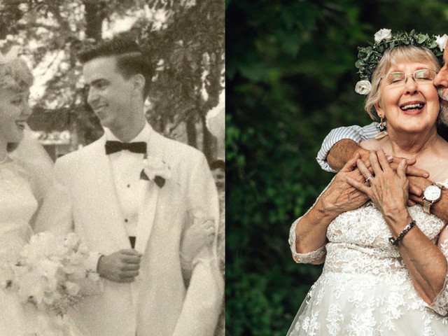 A South Carolina couple had a wedding-themed photo shoot for their 60th anniversary, and the pictures will make your heart melt
