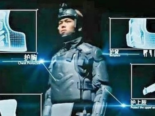Hong Kong riot police will reportedly debut futuristic 'RoboCop-style' body armor imported from China
