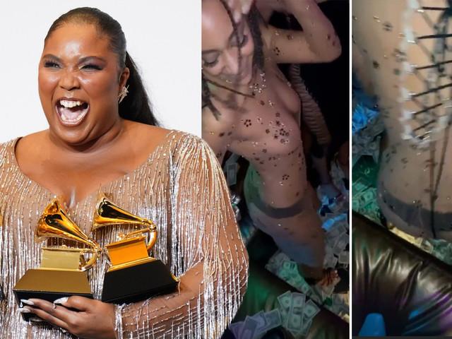 Lizzo celebrates Grammys wins at strip club with Lil Nas X, Rosalía and Dua Lipa
