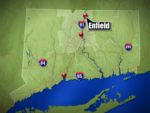 Crews respond to fire in Enfield