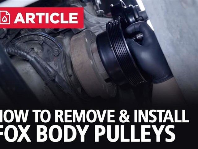 How To Remove & Install Fox Body Pulleys | 79-93 Mustang
