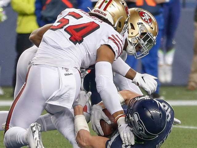 49ers vs. Seahawks, and the NFC playoff picture, came down to a literal inch