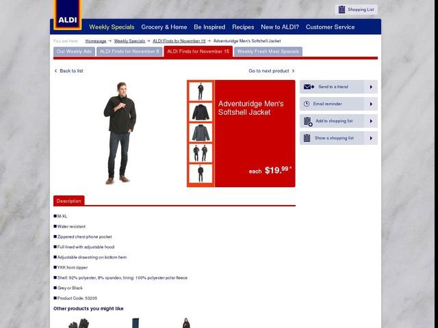 Adventuridge Men's Softshell Jacket