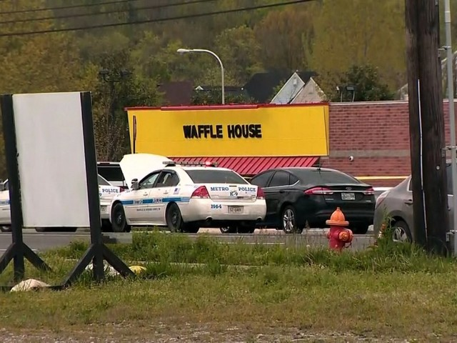 Hero customer rushes Waffle House killer and rips away his assault-style rifle