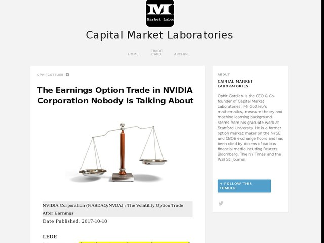 The Earnings Option Trade in NVIDIA Corporation Nobody Is Talking About