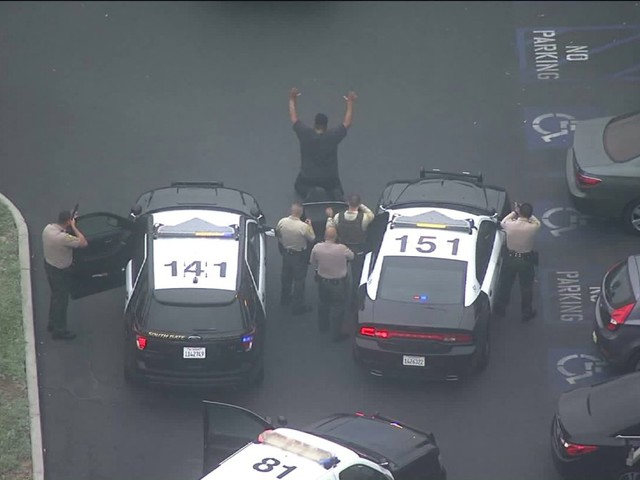 Driver Surrenders in Monterey Park Following Pursuit Through Several L.A. County Cities