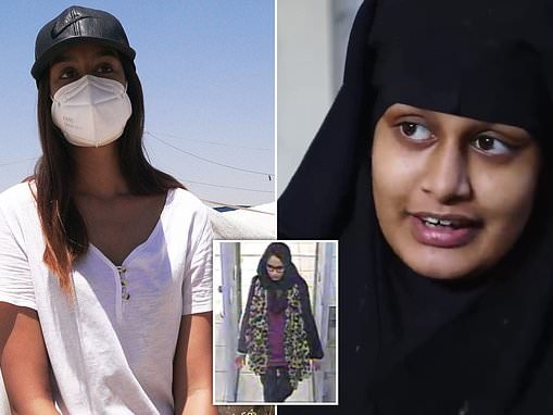Shamima Begum's lawyers claim there is 'overwhelming evidence' she was the victim of trafficking