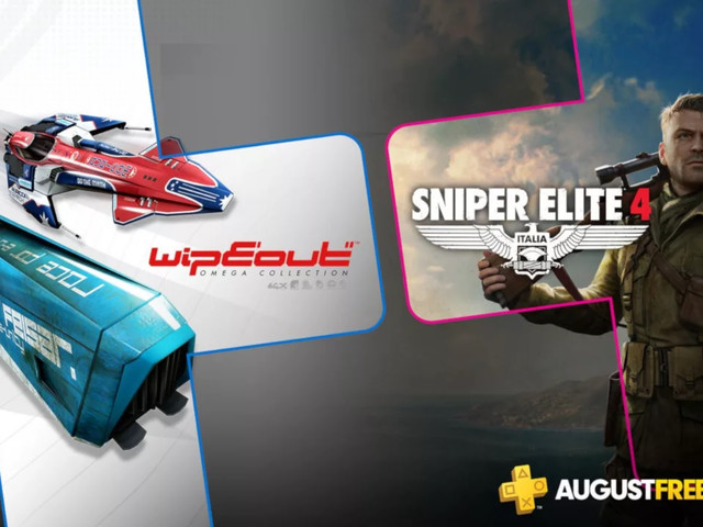 PlayStation Plus free games for August: 'Sniper Elite 4′ and 'WipEout'