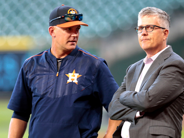 Astros cheating scandal: A.J. Hinch, Jeff Luhnow suspended full season for sign stealing