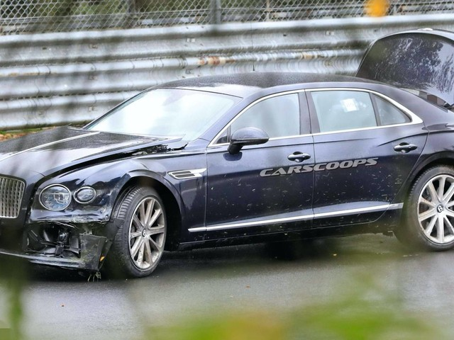 Bentley Testers Had An Oopsie On The 'Ring Crashing 2020 Flying Spur Prototype