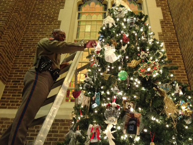 Families Gather Around McKinney's 'Tree Of Angels' In Remembrance Of Murdered Loved Ones